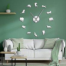 Lrenkey DIY Large Wall Clock - Tiger 3D Wall Clock