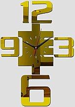 Lrenkey DIY Mirror Wall Clock - Big Digital DIY