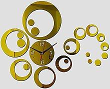 Lrenkey DIY Mirror Wall Clock - Big Little Round