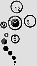 Lrenkey DIY Mirror Wall Clock - Circle Digital DIY