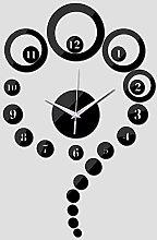Lrenkey DIY Mirror Wall Clock - Digital Round