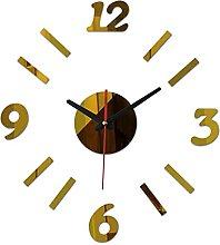 Lrenkey DIY Mirror Wall Clock - Four Numbers DIY