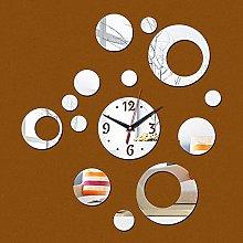 Lrenkey DIY Mirror Wall Clock - Geometry Circle