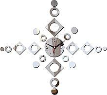 Lrenkey DIY Mirror Wall Clock - Geometry Square