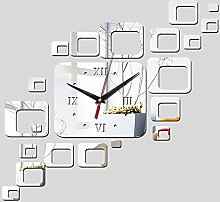 Lrenkey DIY Mirror Wall Clock - Rectangle Mirror