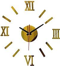 Lrenkey DIY Mirror Wall Clock - Roman Digital DIY