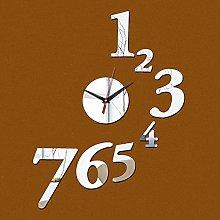 Lrenkey DIY Mirror Wall Clock - Seven Digital DIY