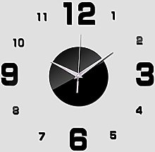 Lrenkey DIY Mirror Wall Clock - Size Number DIY