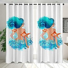 LRGSDML Blackout curtains perforated,3D digital