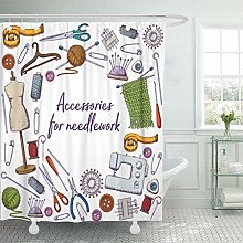 LRSJD Shower Curtain Accessory of Tools for