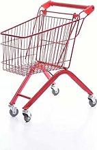 LRXGOODLUKE Mini Shopping Cart, Net Red