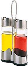 LS Kitchen - Glass Oil And Vinegar Set - Cruet Set