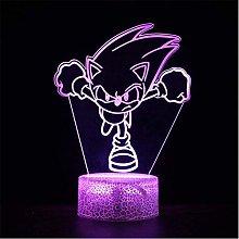 LSDAMN 3D Illusion Lamp Led Night Light Cartoon