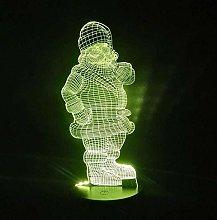 LSDAMN 3D Illusion Lamp Led Night Light Christmas