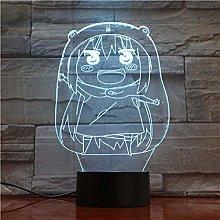 LSDAMN 3D Illusion Lamp Led Night Light Cute Anime