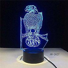 LSDAMN 3D Illusion Lamp Led Night Light Enamel