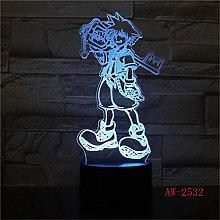 LSDAMN 3D Illusion Lamp Led Night Light Home