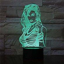 LSDAMN 3D Illusion Lamp Led Night Light Luminarys