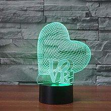 LSDAMN 3D Illusion Lamp Led Night Light Optical