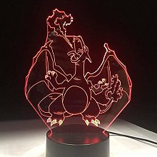 LSDAMN 3D Illusion Lamp Led Night Light Pokemon