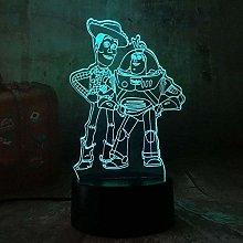 LSDAMN 3D Night Light Cute Toy Story Buzz