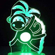 LSDAMN 3D Phantom Light Led Interesting Monkey