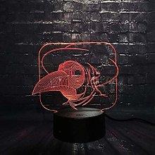 LSDAMN Animal Bird 3D Night Light Led Illusion