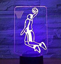 LSDAMN Basketball Dunk 3D Night Light Illusion