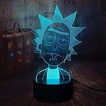 LSDAMN Cartoon Character 3D Night Light Illusion