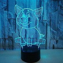 LSDAMN Cartoon Pig 3D LED Illusion Lamp Night