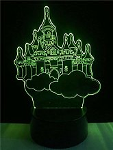 LSDAMN Castle Model 3D Night Light Illusion Lamp
