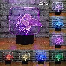 LSDAMN Creative Bird Animal 3D Night Light