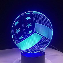 LSDAMN Creative Football 3D Night Light Illusion