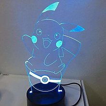 LSDAMN Kids Night Light Cartoon Anime Animal 3D
