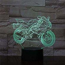 LSDAMN Kids Night Light Cartoon Motorcycle 3D