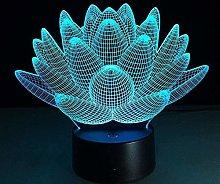 LSDAMN Kids Night Light Plant Flower Lotus 3D