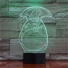 LSDAMN Kitten 3D LED Illusion Lamp Night Light