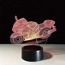 LSDAMN Motorcycle 3D LED Illusion Lamp Night Light