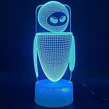 LSDAMN Robot 3D Night Light Led Illusion Lamp