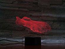 LSDAMN Sports Car Model 3D Night Light Illusion