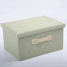 LSDFID Storage Bins Linen Fabric Foldable Storage