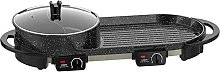 LSDRALOBBEB Hot Plate Table Top Grill 2-In-One