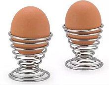 Lsgepavilion 2Pcs Stainless Steel Egg Cup Holder