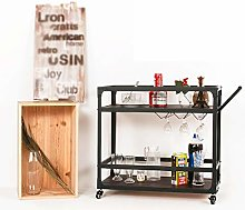 LSJGG Kitchen Serving Trolley,Luxurious Hotel Red