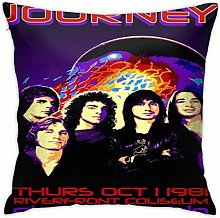 Lsjuee 18 X18 in Pillowcase Journey Rock Band