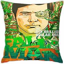 Lsjuee 18 X18 in Pillowcase The-Six Million Dollar