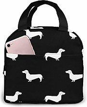 Lsjuee Black and White Dachshund Silhouette