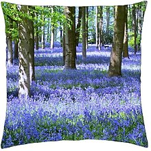 Lsjuee bluebell flowers - Throw Pillow Cover Case