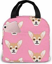 Lsjuee Chihuahua Cute Dog Lunch Box Bag Picnic