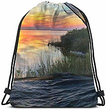 Lsjuee Classic Drawstring Bag, Camp Tent Gym